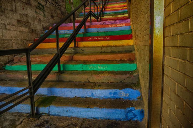 #Colored #stairs #gijon #cimadevilla #escaleras