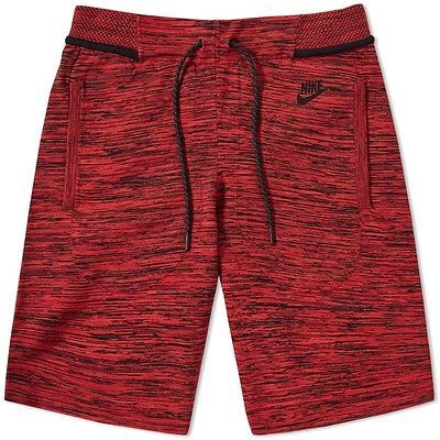 COMFY Nike Knit Tech Fleece Red/Black Shorts flyknit 728675 671 RETAIL$150 MEN S #Clothing, Shoes & Accessories:Men's Clothing:Athletic Apparel # $79.99