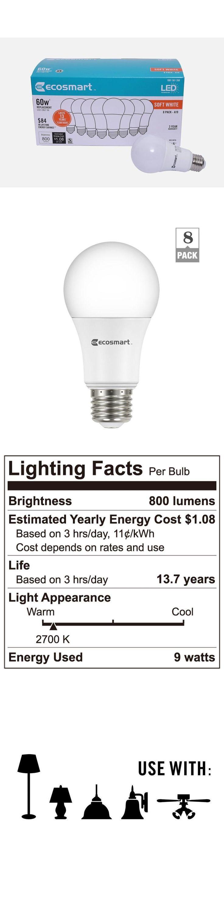 1000 images about lightbulb things on pinterest lightbulbs bulbs - Light Bulbs 20706 32 Pack Led Ecosmar 9 W 60 Watt Soft White A19