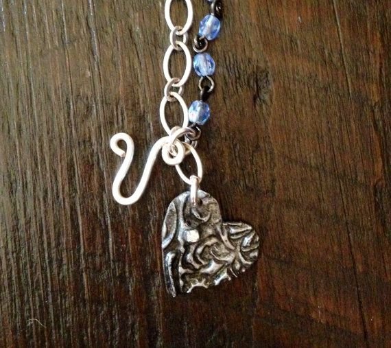 MNT 2 B  Hand Stamped Etched and Soldered by Forgetmenotkeepsake, $25.00