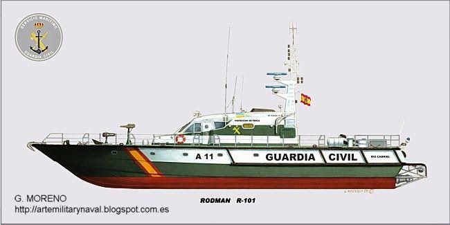 G. Moreno, Rodman R-101 Guardia Civil.