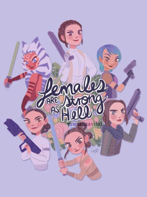 """One of the main reasons I love Star Wars.. Never hear the line """" well what do we do now?"""" from any of the female leads. They are the leaders."""