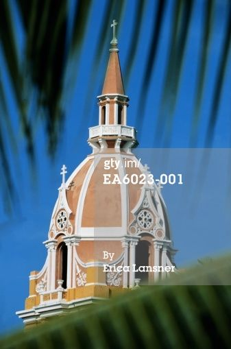 Stock-Foto : Colombia, Bolivar, Cartagena, cathedral, detail