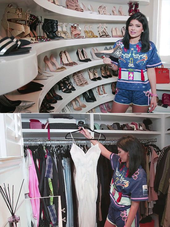 Inside 25 Celebrity Closets That'll Blow Your Mind | People - Kylie Jenner