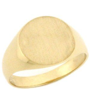 10K Solid Gold Round Signet Young Mens Boys Ring Jewelry Liquidation. $229.13. Comes with FREE fancy black leatherette ring box!. Made with Real 10k Gold. Made in USA!. Save 69% Off!