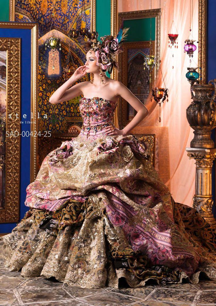 Stella de Libero, gown, couture, wedding, bridal, dress, fantasy, flowers, flower, floral, flora, fairytale, fashion, designer wedding! :)