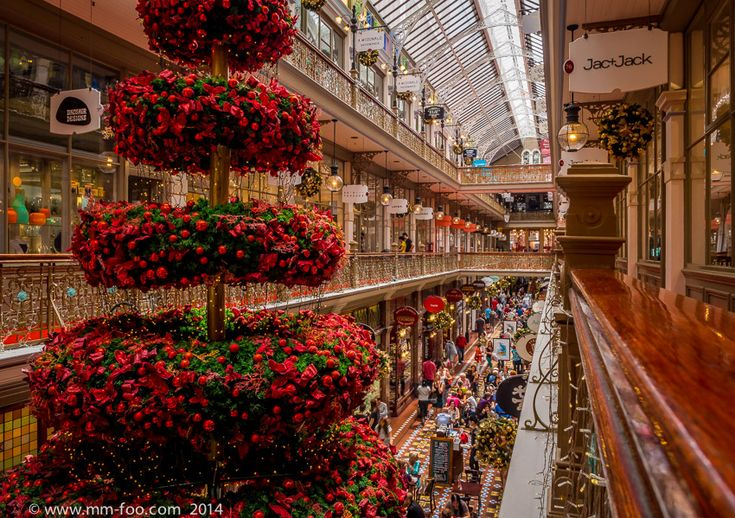 Photo Taken: The Strand Arcade with a Christmas Tee, Sydney Australia. 1/10 sec, 12mm, f/8.0, ISO500.