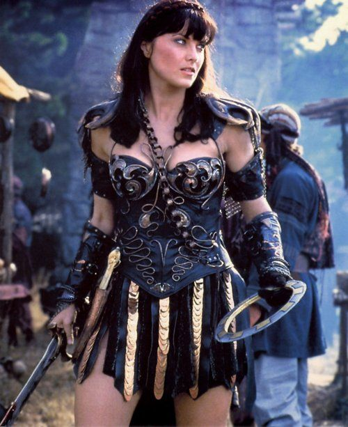 Lucy Lawless Must say I don't remember this costume from the show, but I like it. Watched Xena both as a kid and as an adult, and I still love it. Awesome actors, lots of goofiness - it had some serious points throughout the series, but it didn't feel too hoity toity to make fun of itself.
