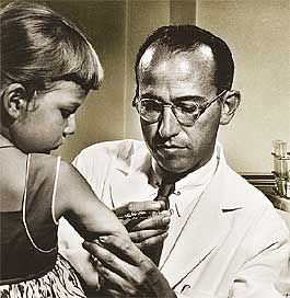 Dr. Jonas Salk (1915 - 1995)  ~ In the summer of 1950 developed a vaccine to once and for all, eradicate poliomyelitis.