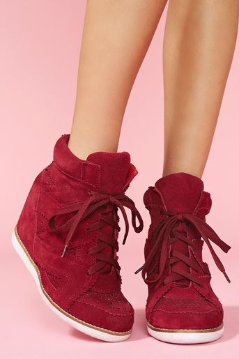 wedge trainer - so right or so wrong? ...so right. want, want, want. s'il vous plaît?