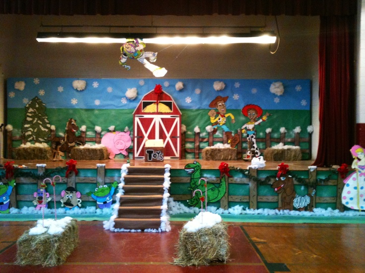 Classroom Decoration Ideas For Class ~ A toy story christmas play classroom decoration