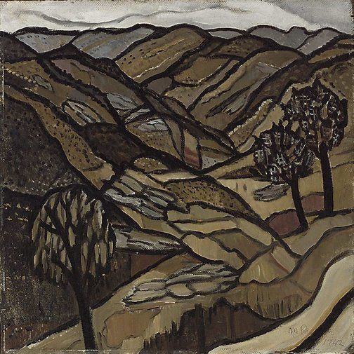 Margaret Preston, Grey day in the ranges, 1942. Oil on harboard, 51 x 50.7 cm. Sydney, Art Gallery of NSW.