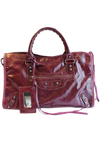 The Route 66 Trendy Cowhide Leather Bag Purple