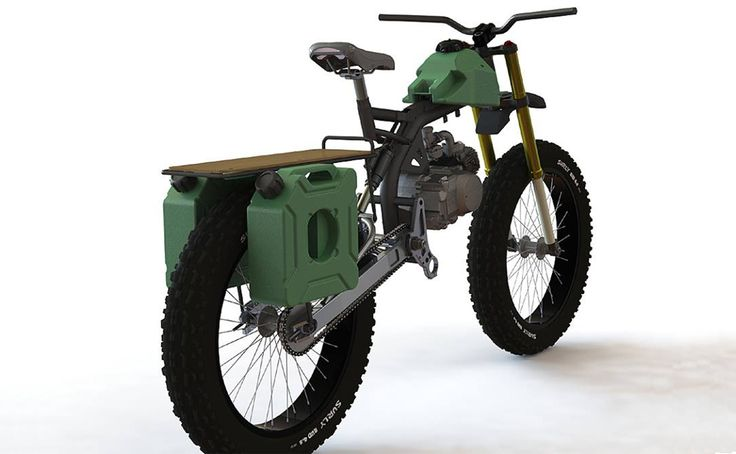 motoped motorized bicycle | ... bike meets moped in the motoped an e bike alternative with attitude