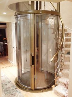 The Visilift™ Round elevator utilizes an integrated clear acrylic hoistway and completely self-contained design.