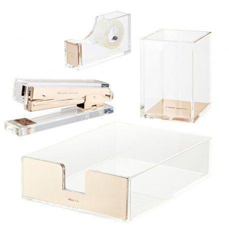 Acrylic Table Organiser Set - Kate Spade