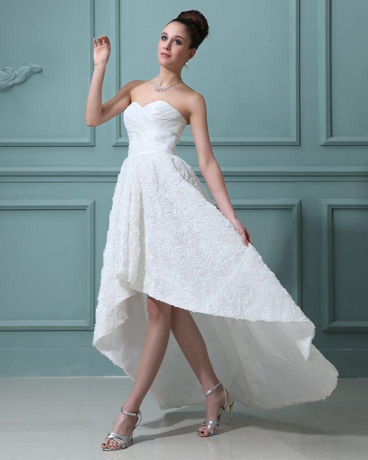 http://no.trouws.com/brudekjoler-c1 snore kjaereste asymmetriske mini brudekjoler - 981.59NOK : TROUWS