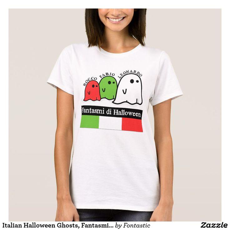 Italian Halloween Ghosts, Fantasmi di Halloween T-Shirt