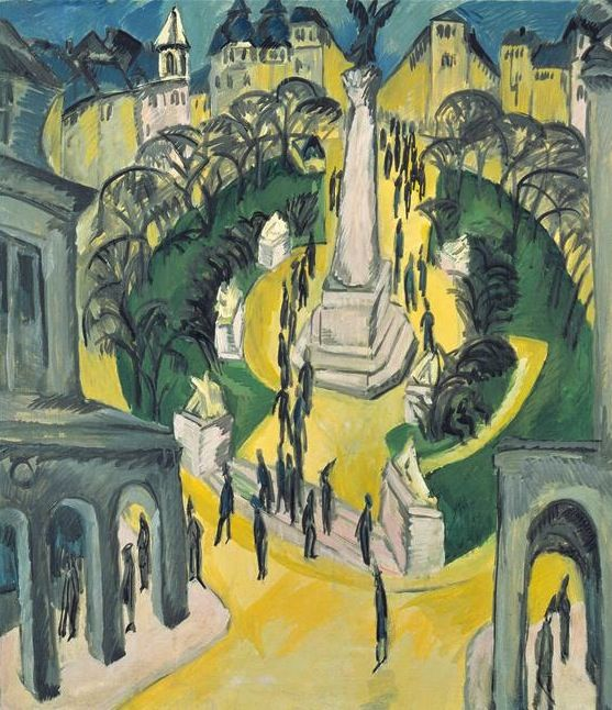 Place Belle-Alliance à Berlin, par Ernst Ludwig Kirchner