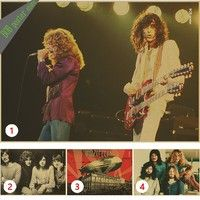 Wish | Vintage Poster Led Zeppelin kraft paper retro rock poster classic old band retro poster  40x32cm