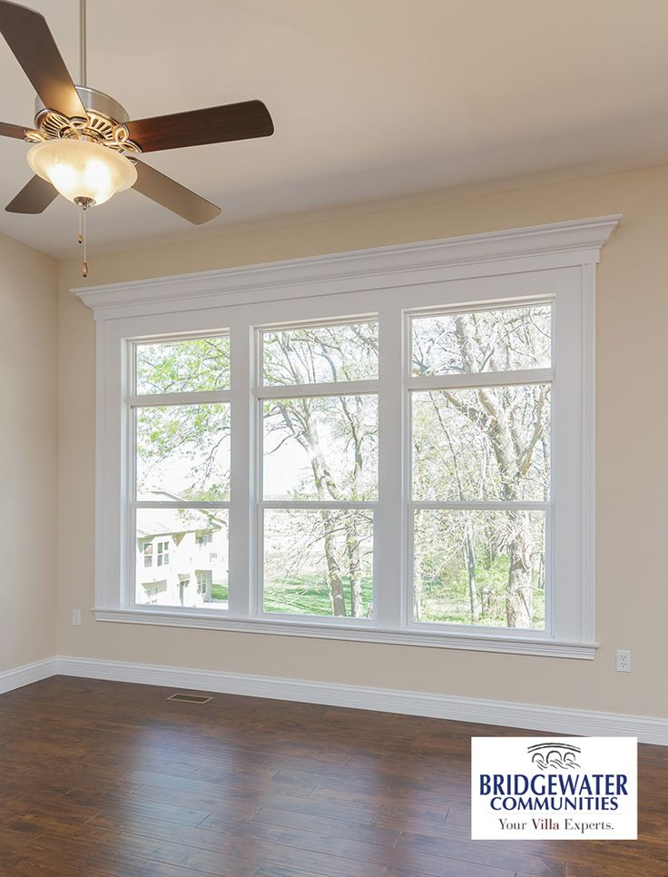 How beautiful to have a window wall complete with transoms and custom mouldings frame your view to the outside! Fully trimmed in detail with a large piece of crown as the finish. Beautiful!  http://www.bridgewatercommunities.com
