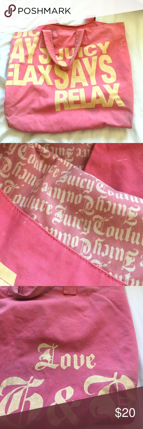 Juicy Couture Beach Tote Oversized beach bag Good condition  Priced to sell obo Juicy Couture Bags Totes