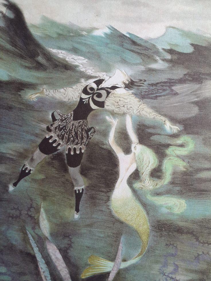 A personal favorite from my Etsy shop https://www.etsy.com/uk/listing/235353254/vintage-jiri-trnka-little-mermaid