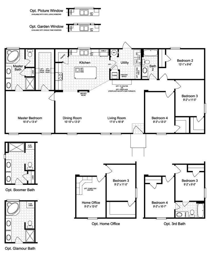 Floor plan the harbor house ii ftp464m2 floor plan plans for Floor plans oklahoma