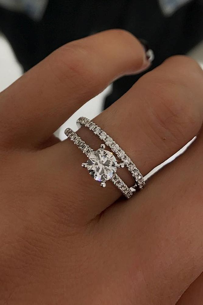 18 Beautiful Wedding Ring Sets For Your Round Cut Pave Band More On The Blog
