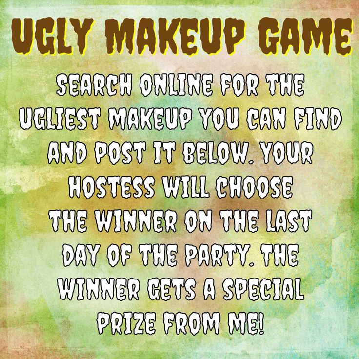Ugly Makeup game. www.youniqueproducts.com/jessicawebster