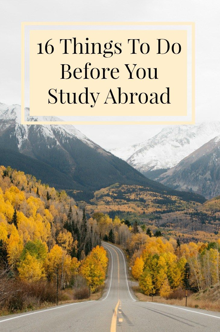 16 Things To Do Before You Leave to Study Abroad w/ Printable Checklist