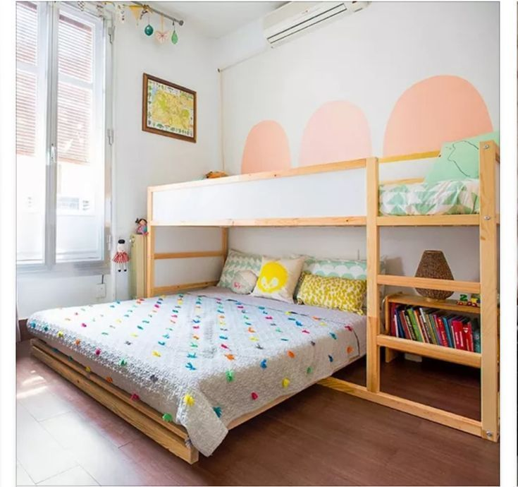 Ikea Kura Bed With Double Bed Under Double Bed Under Boy Girl Decoridea Ikea Kura Bed With Double Bed Und In 2020 Ikea Kura Bed Ikea Childrens Bedroom Kura Bed