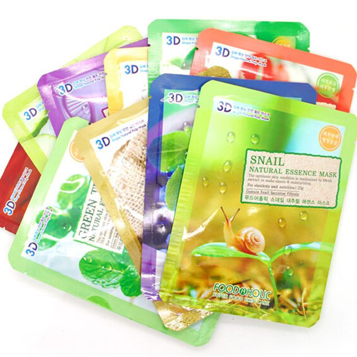 5pcs/lot Korean Cosmetics FOOD HOLIC 3D Natural Beauty Mask A Variety Of Optional Face Mask for Whitening Moisturizing Skin
