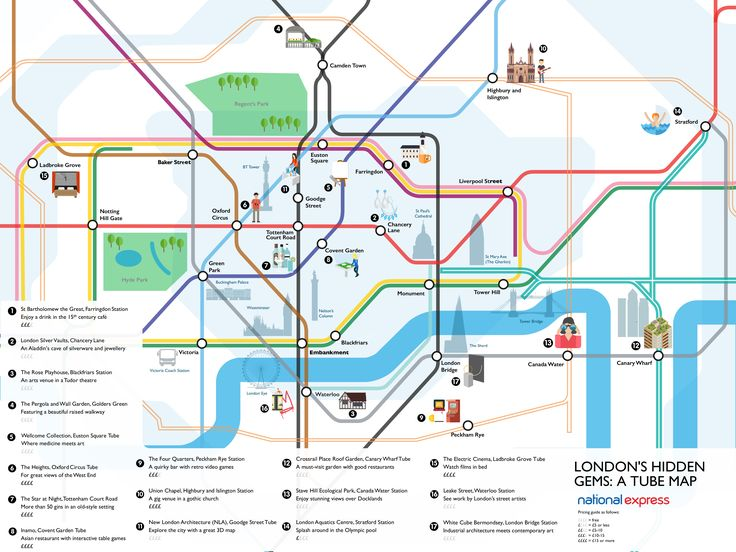 londons hidden gems revealed on a tube map