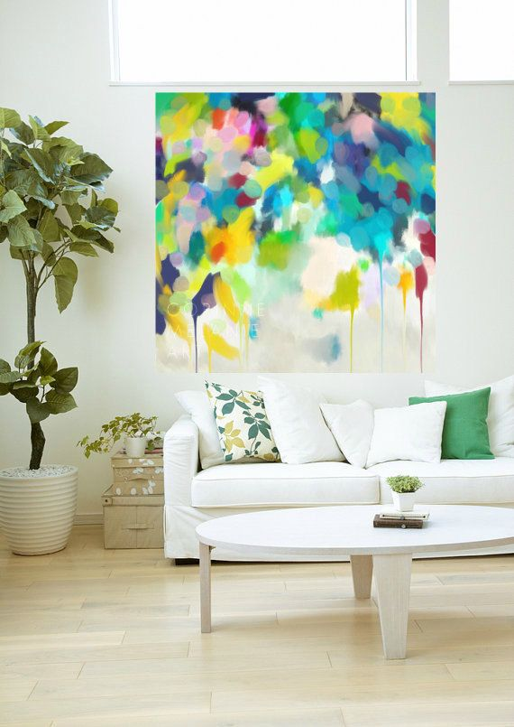 Freesia Large original abstract painting by CorinneMelanieArt