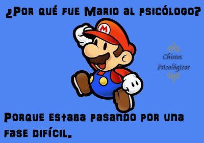 Chistes Psicológicos: Mario y sus fases.