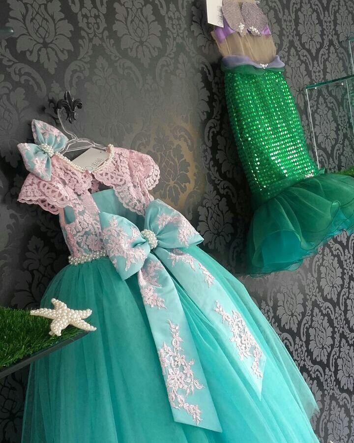La Sirenita En 2019 Traje De Sirena Para Niñas Vestido