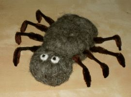 Spinne filzen