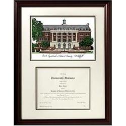 famu florida am university mahogany diploma frame lithograph - Diploma Frames Walmart