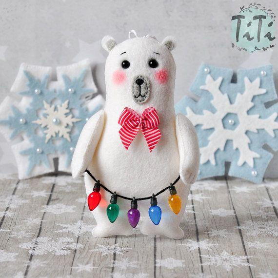Ornamenti di Natale SET di 7 Natale ornamenti feltro di TiTics