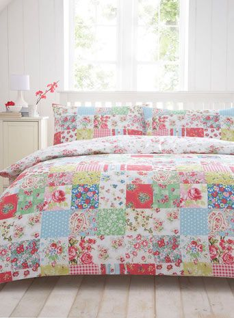 What do you think about this quilt for C when she is in a big girl bed? Colorful patchwork bedding