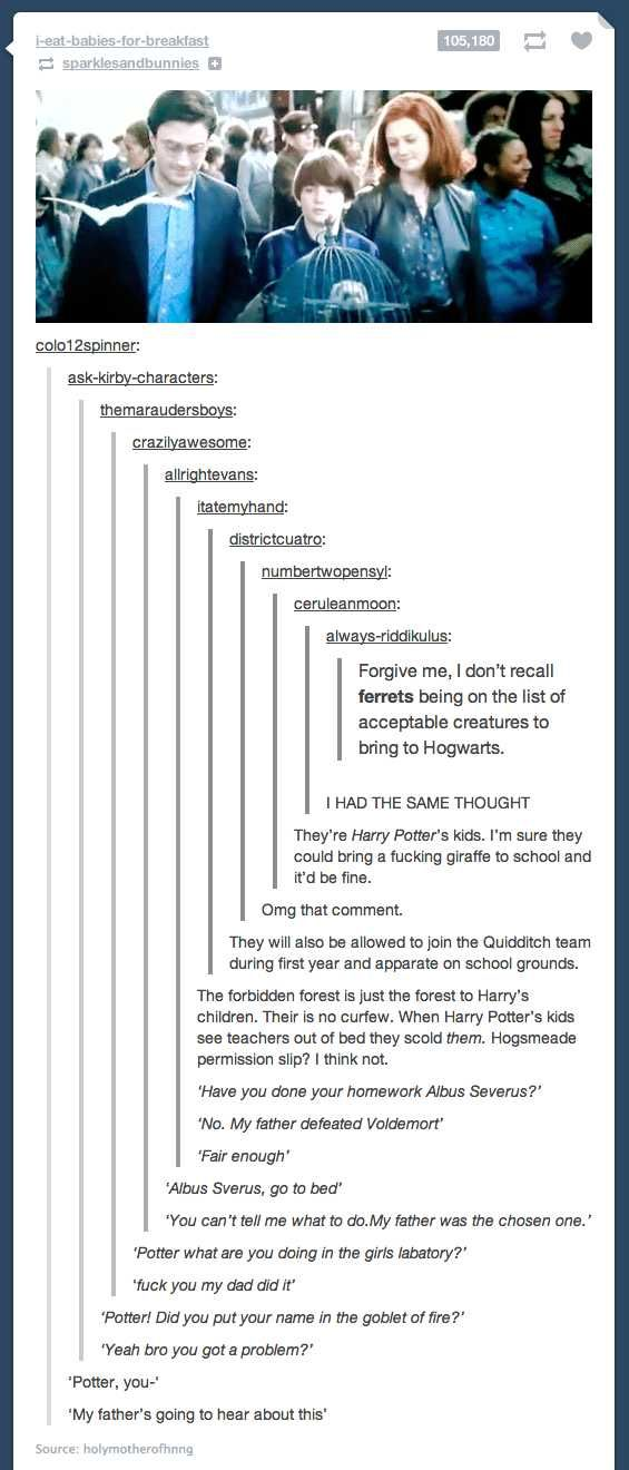 The kid of Harry Potter would be able to get out of anything - Imgur
