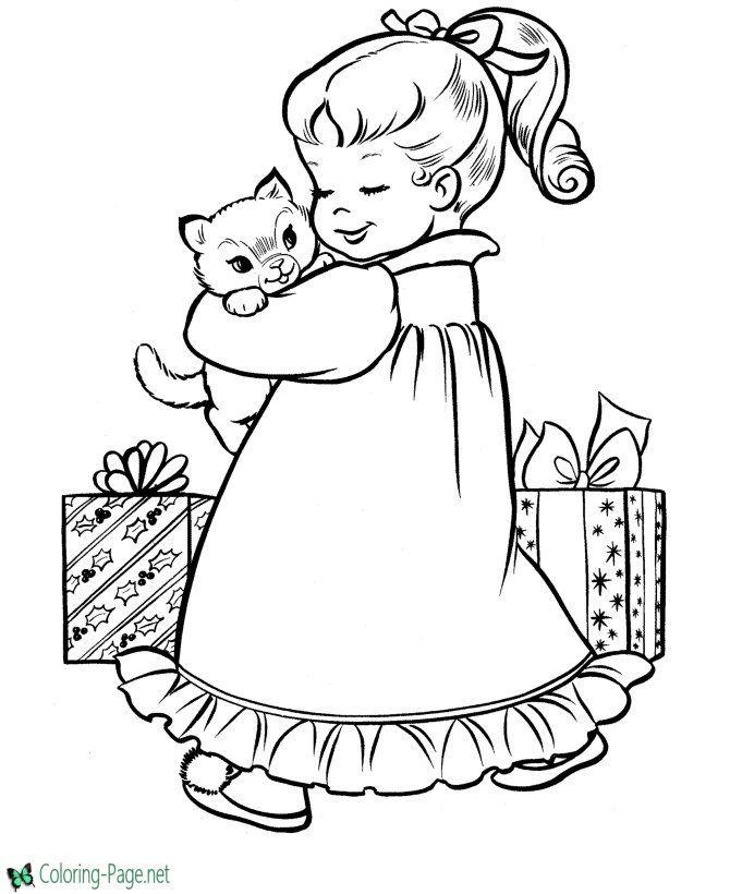 100 Christmas Printable Worksheets Christmas Coloring Sheets Christmas Present Coloring Pages Vintage Coloring Books