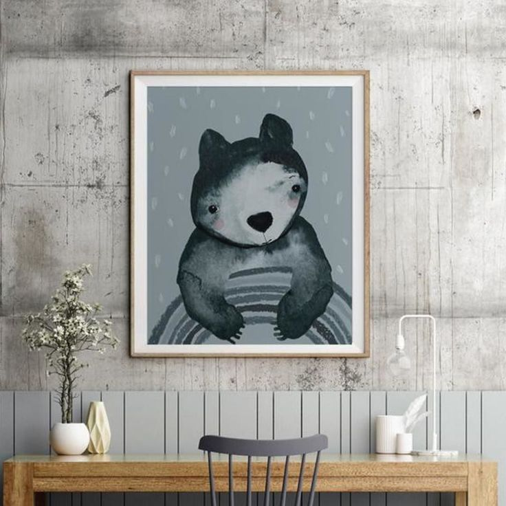 I dream of having more walls on my house and especially an amazing concrete one like this to hang art on. I've seen some great oak frames around lately at even greater prices. The oak frame looks particularly good with the vintage blue of our Rainbow Buddy print! A winking combo that is classic yet contemporary. Shop his poster tonite and get free shipping! Link in bio