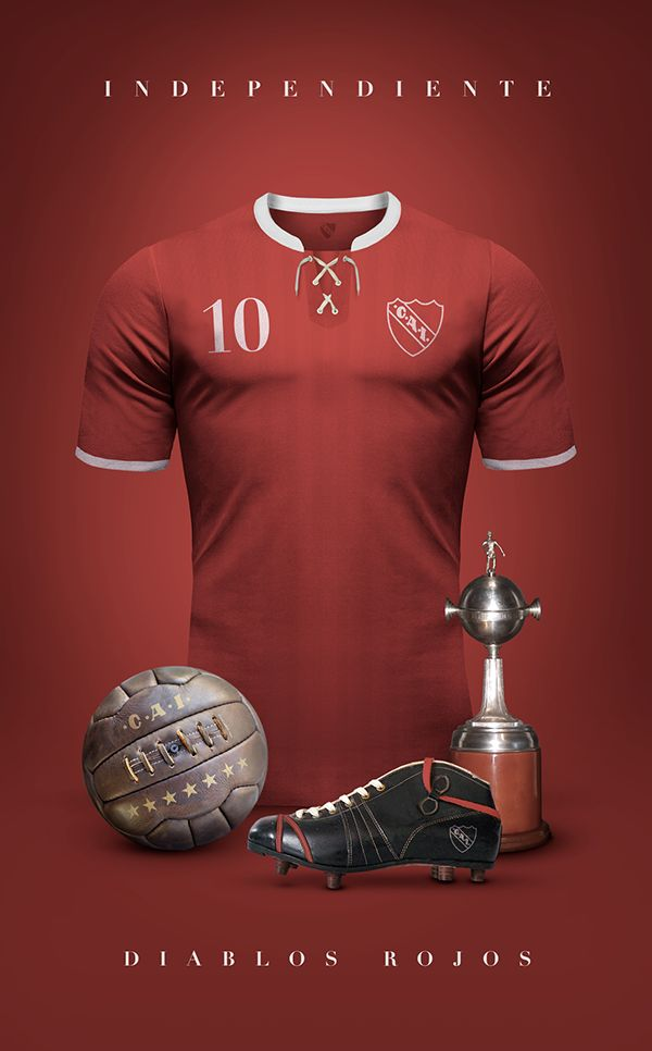 Vintage Clubs II on Behance - Emilio Sansolini - Graphic Design Poster - Independiente - Diablos Rojos