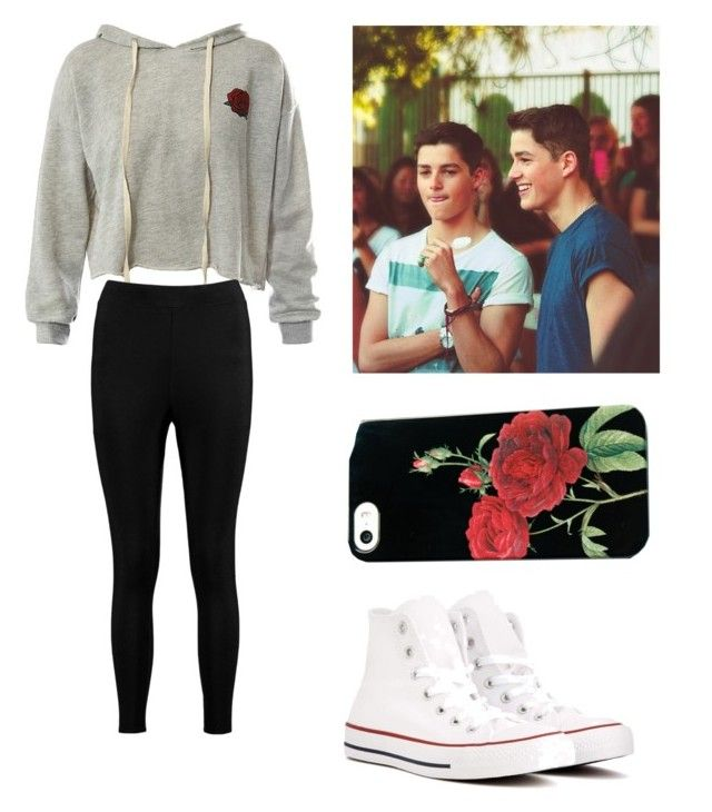 """""""Jack and Finn Harries"""" by darkmagic32 ❤ liked on Polyvore featuring beauty, Sans Souci, Boohoo and Converse"""