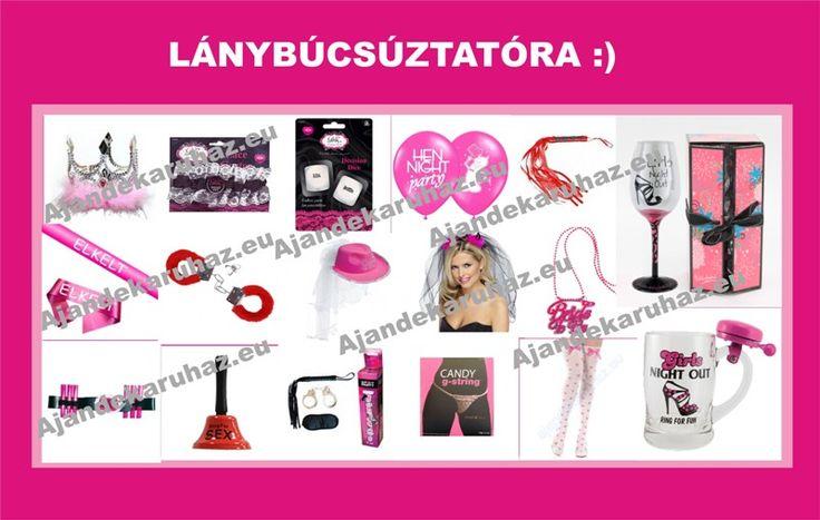 Ötletek lánybúcsúztatóra.  http://www.ajandekaruhaz.eu/