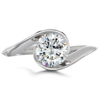 Award Winning Contour Round Solitaire Engagement Ring