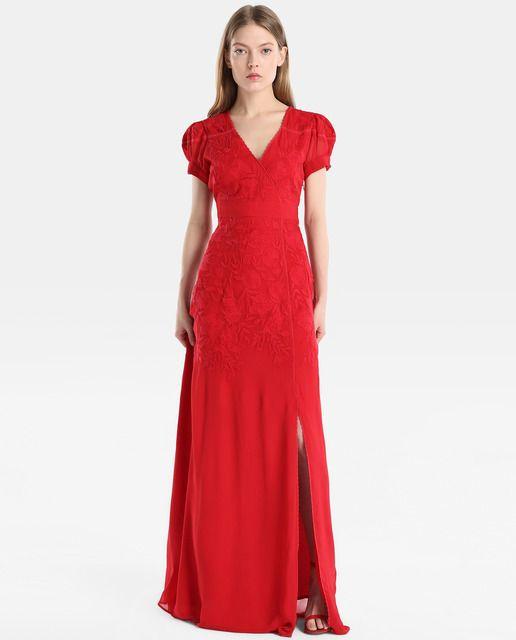 Vestido de mujer tintoretto con encaje y bordado