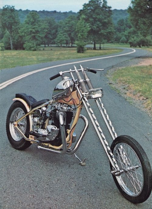 Old School Custom Chopper at it's best. My first love before coming a street fighter/bobber bike fan.